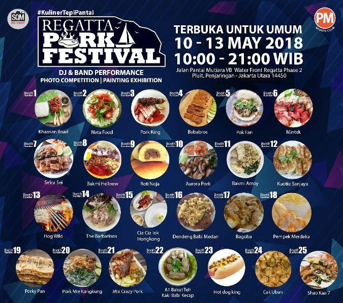 Regatta Pork festival, Festival Kuliner sambil Berwisata Bahari