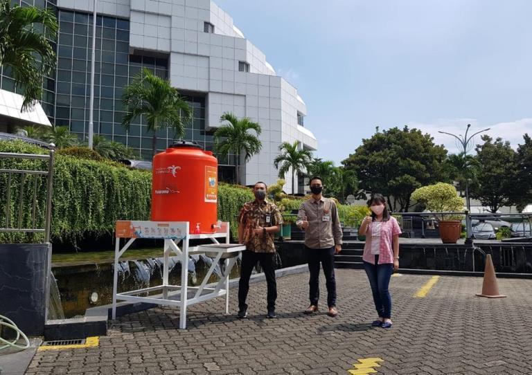 Panorama Siapkan Tempat Cuci Tangan di Berbagai Fasilitas Umum
