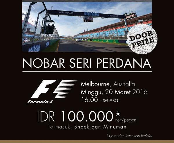 Nobar F1 dan MotoGP Hotel Santika Harapan Indah – Bekasi