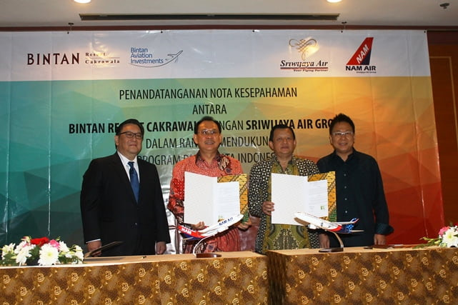 Bintan Resort dan Sriwijaya Air Group Jalin Kerja Sama Kembangkan Bandara Bintan