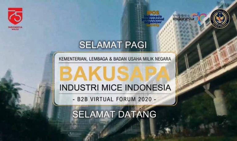 Menggairahkan Industri MICE Lewat Bisnis Forum Virtual Bakusapa