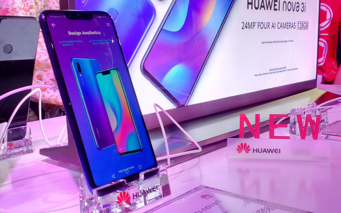 Huawei Luncurkan Nova 3i, Smartphone dengan Artificial Intellegent dan Quad-Camera